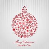 Предпосылка рождества с шариком рождества бесплатная иллюстрация
