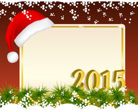 Предпосылка рождества с шляпой santa Стоковые Изображения RF