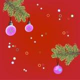 Предпосылка рождества с branche ели Стоковые Фотографии RF