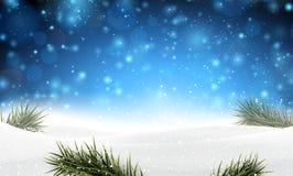 Предпосылка рождества с snow Стоковое Изображение