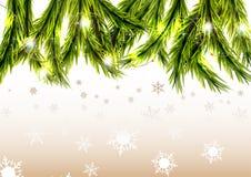 Предпосылка рождества с snow Стоковые Фото