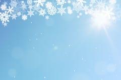 Предпосылка рождества с snow Стоковые Изображения RF