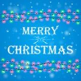 Предпосылка рождества с snow Стоковая Фотография