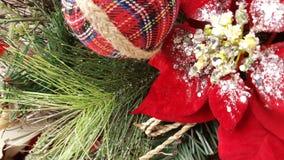 Предпосылка рождества хворостины конуса сосны Стоковая Фотография