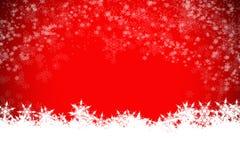 Предпосылка рождества bokeh снега нерезкости Стоковые Изображения