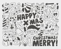Предпосылка рождества Doodle Стоковые Фотографии RF
