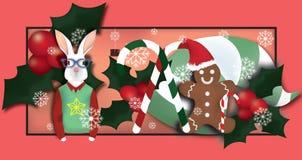 Предпосылка рождественской вечеринки Стоковые Фотографии RF