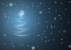 Предпосылка рождественской елки абстрактная иллюстрация вектора