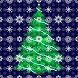 Предпосылка рождественской елки снега Стоковая Фотография RF