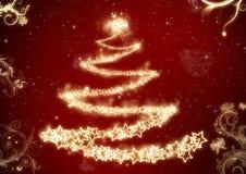 Предпосылка рождественской елки иллюстрация вектора