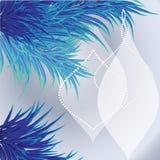 Предпосылка рождественской открытки с голубым деревом Стоковое Изображение