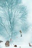 Предпосылка рождественской открытки. Стоковое фото RF