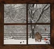 Предпосылка рождественской открытки. Стоковые Изображения