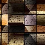 Предпосылка рукописи темная текстурированная Стоковая Фотография RF