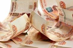 Предпосылка русских банкнот Стоковая Фотография RF