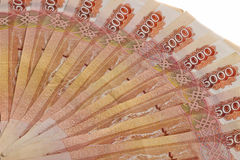 Предпосылка русских банкнот Стоковые Изображения RF