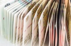 Предпосылка русских банкнот Стоковое Изображение RF