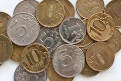 Предпосылка русских монеток Стоковые Изображения RF