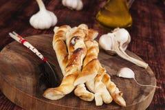 Предпосылка ручек хлеба пиццы Стоковые Изображения RF