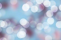 Предпосылка Сакуры голубая и розовая Bokeh Стоковые Изображения