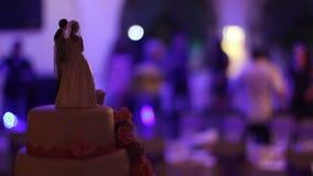 Предпосылка свадебного пирога танца сток-видео