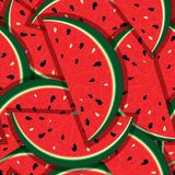Свежие ломтики красного арбуза Стоковое Изображение RF