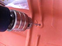 предпосылка сверля изолированную белизну инструмента предмета Стоковое Фото