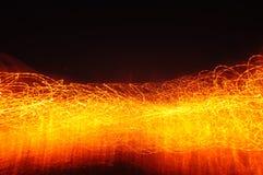 Предпосылка светового эффекта огня Стоковое Изображение