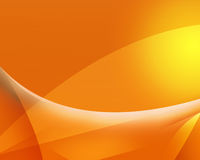Предпосылка световых волн желтая абстрактная Стоковые Фото