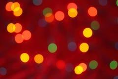 Предпосылка светов рождества Стоковые Фотографии RF