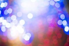 Предпосылка светов рождества Defocus Стоковое Фото