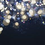 Предпосылка светов рождества defocused Стоковая Фотография