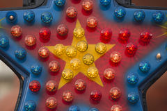 Предпосылка светов Luna Park масленицы ярмарки потехи moving Стоковые Фотографии RF
