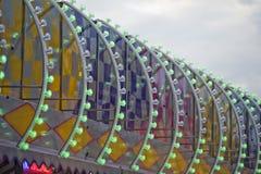 Предпосылка светов Luna Park масленицы ярмарки потехи moving Стоковое Фото