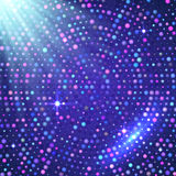 Предпосылка светлого вектора диско фиолетовая сияющая Стоковая Фотография RF