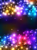 Предпосылка светлого центра цветка Стоковая Фотография