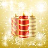 Предпосылка свечи рождества вектора Стоковые Фото