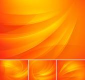 Предпосылка свирли абстрактная - апельсин Стоковое Изображение RF