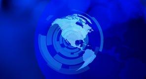 Предпосылка Северной Америки синяя Стоковые Фотографии RF