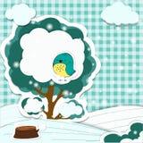 Предпосылка сезона зимы Стоковые Фотографии RF