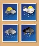 Предпосылка сезона дождей с дождевыми каплями и облаками бесплатная иллюстрация
