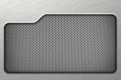 Предпосылка серебра сетки металла горизонтальная Стоковое Фото