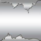 Предпосылка серебра Abstarct Стоковые Изображения RF
