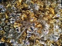 Предпосылка серебряного колокола золота Стоковое Фото