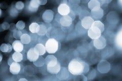 Предпосылка серебряных светов с влиянием bokeh Стоковое Изображение