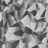 Предпосылка серого градиента низкая поли Геометрическая полигональная картина Стоковые Фотографии RF