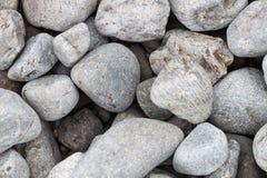 Предпосылка серых ровных выпуклых камней Стоковое Изображение RF