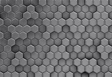Предпосылка серых шестиугольников 3d с brights Стоковая Фотография RF