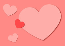 Предпосылка сердец валентинки бумажная Стоковое Фото