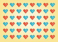 Предпосылка сердец дня валентинки Стоковое Изображение